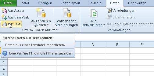 Anleitung Zum Import Einer Csv Datei In Excel